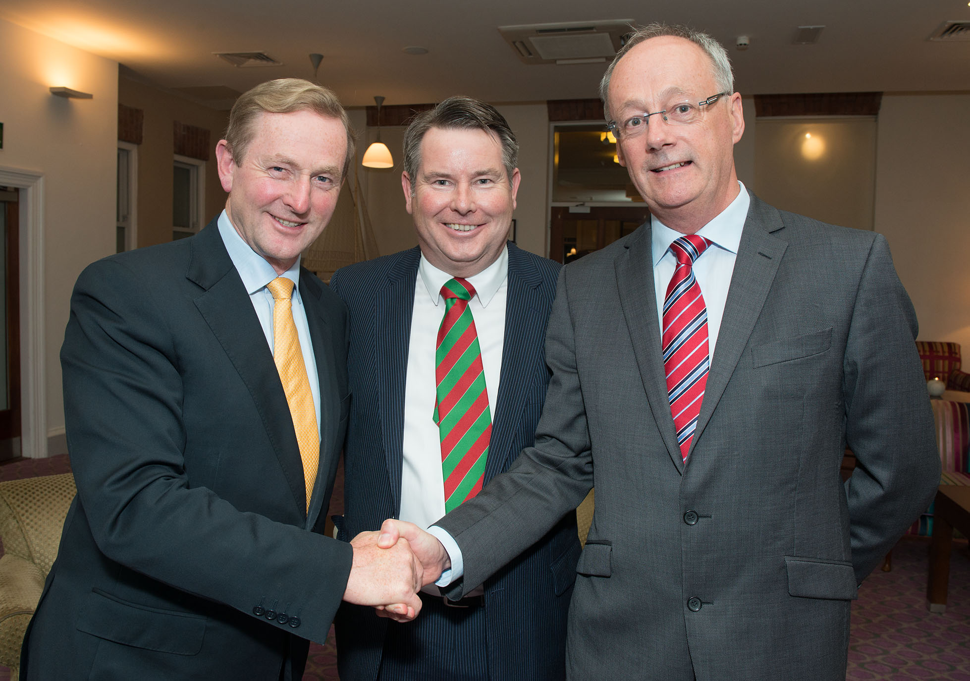 An Taoiseach Enda Kenny, Seamus Murray CBE, Denis Hayes IRDG