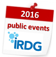 IRDG Calendar of Events 2016
