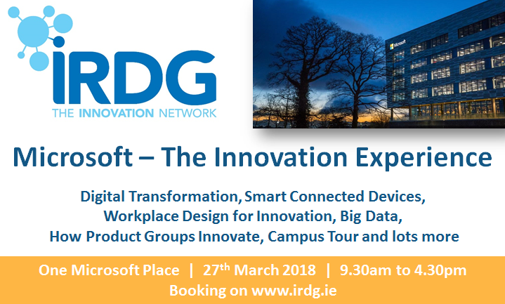 microsoft the innovation experience 27th march 2018 irdg